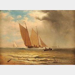 Charles Henry Gifford (American, 1839-1904)      Sailboats Under a Darkening Sky