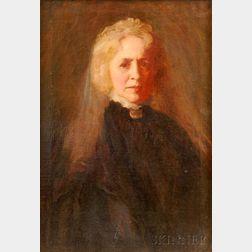Elizabeth Vila Taylor Watson (American, 1863-1949)      Portrait of a Woman in Black.