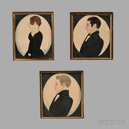 Three Portrait Miniatures