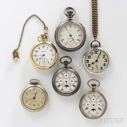 Two Hamilton and Four Other Watches