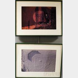 Alex MacLean (American, b. 1947)      Four Aerial View Photographs of Baseball Diamonds.