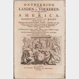 Marquette, Jacques (1637-1675) Ontdekking Van eenige Landen en Volkeren