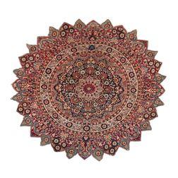 Antique Khorasan Round Rug