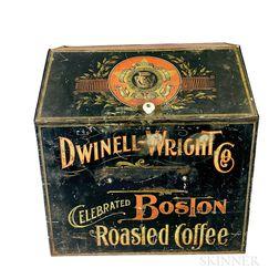 Dwinell-Wright Co. Painted Tin Coffee Bin