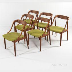 Six Johannes Andersen for Moreddi Teak Dining Chairs