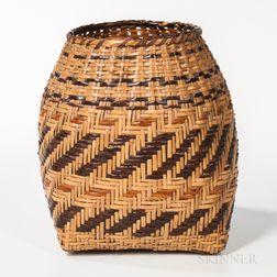 Southeast Polychrome Cane Basket