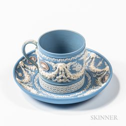 Wedgwood Tricolor Jasper Coffee Can and Saucer