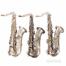 Three C Melody Saxophones, Buescher and Wurlitzer