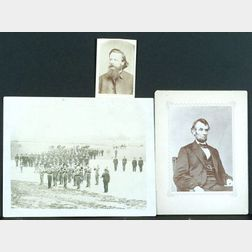 (Civil War), Three 19th Century Vintage Civil War Photographic Subjects