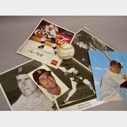 Group of Sports Collectibles and Autographed Photographs