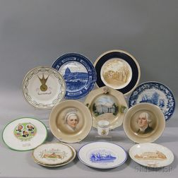 Thirteen United States Political and Historical Ceramic Items