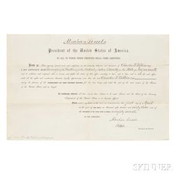 Lincoln, Abraham (1809-1865) Document Signed, 1 April 1863.