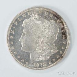 1878 7/8 Tailfeather Morgan Dollar.