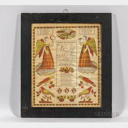 Printed Birth and Baptismal Fraktur