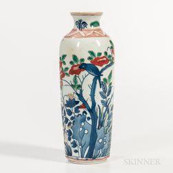 Wucai Sleeve Vase