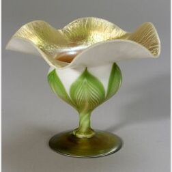 Tiffany Favrile Floriform Glass Vase