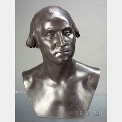 Modern Wedgwood Black Basalt Bust of George Washington