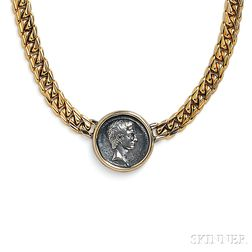 "18kt Gold and Antique Coin ""Monete"" Necklace, Bulgari"