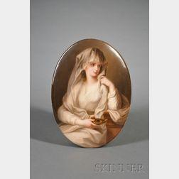 KPM Porcelain Plaque Depicting the Duchess of Devonshire as the Vestal Virgin