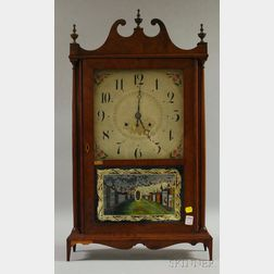 Seth Thomas Mahogany Pillar and Scroll Shelf Clock