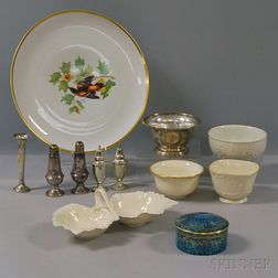 Small Group of Sterling Silver and Porcelain