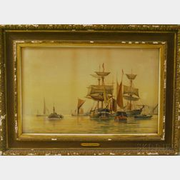 Frederick James Aldridge (British, 1850-1933)      On the Thames