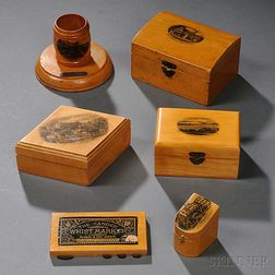 Sixty-three Pieces of Mauchline Ware