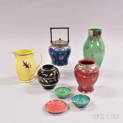 Eight Wedgwood Veronese Ware Items.