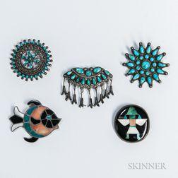 Five Southwest Pins