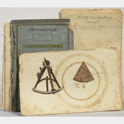 Navigational and Mathematical Note- and Sketchbook, Newbury, Massachusetts, c. 1830.