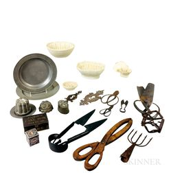 Group of Metal and Ceramic Decorative Items