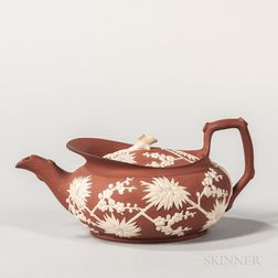 Wedgwood Rosso Antico Parapet Teapot and Cover