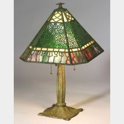Bradley and Hubbard Metal Overlay Table Lamp