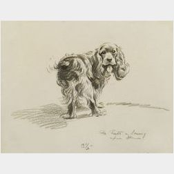 (Burt) Morgan Dennis (American, 1892-1960)  Lot of Two Drawings of Dogs: Welcome to Cape Cod