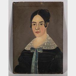 American School, 19th Century  Portrait of Mary (Whitney) Libby.