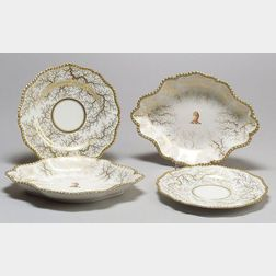 Four Flight, Barr and Barr Worcester Porcelain Dishes