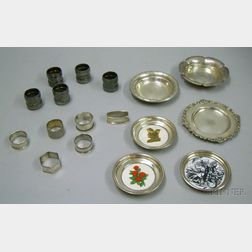Six Sterling Silver Dishes