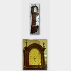Pine-cased Tall Clock