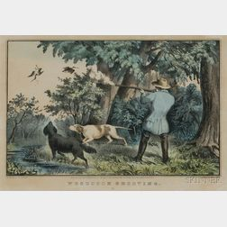 Nathaniel Currier, publisher (American, 1813-1888)      WOODCOCK SHOOTING.