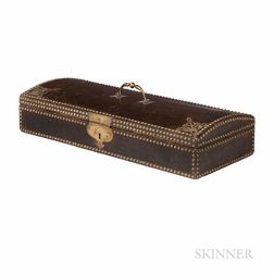 Spanish Brass-mounted Double Violin Case, 19th Century