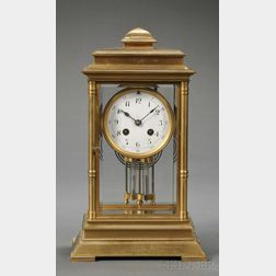 Japy Freres Gilt-metal Mantel Clock