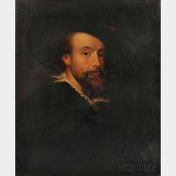 After Peter Paul Rubens (Flemish, 1577-1640)      Copy of the Self Portrait by Rubens of 1623