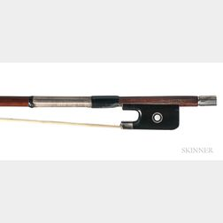 French Silver-mounted Violin Bow, Roger François Lotte