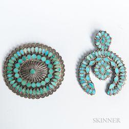 Two Zuni Inlay Pins
