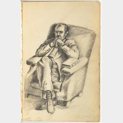 Artist's Sketchbook, Mid-20th Century.