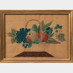 American School, Mid-19th Century      Still Life Basket of Fruit