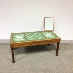 A. Barbara Leslie and Grace Hosking for Shal Design Chinoiserie Game Table