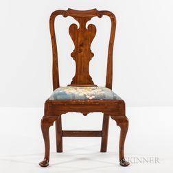 Queen Anne Carved Cedar Side Chair
