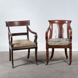 Two Classical Armchairs
