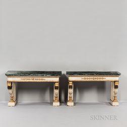Pair of Neoclassical Consoles